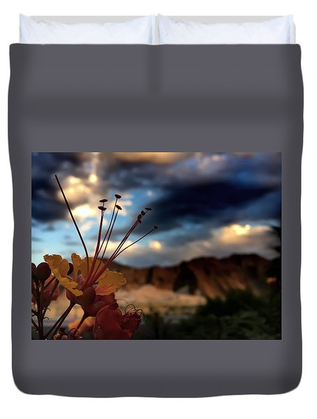 Sunrise La Quinta Duvet Cover by Chris Tarpening