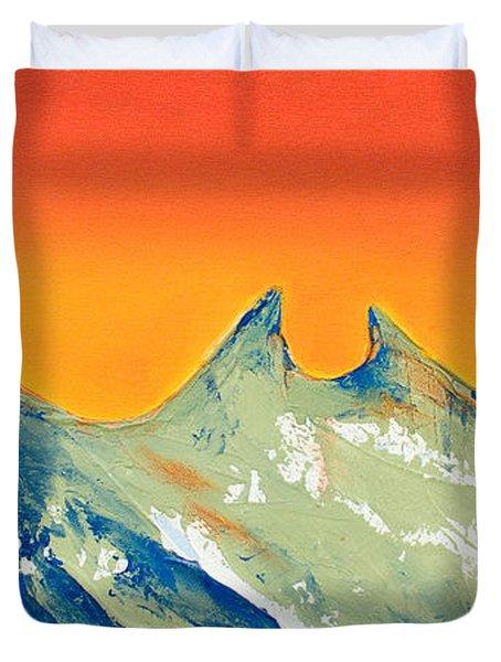 Sunrise La Silla Duvet Cover