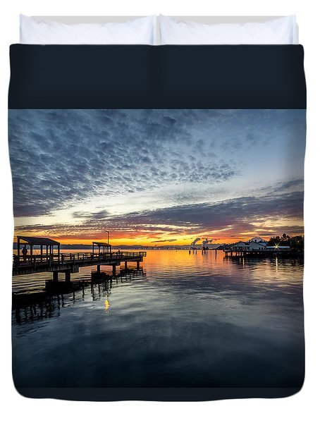 Sunrise Less Davice Pier Duvet Cover
