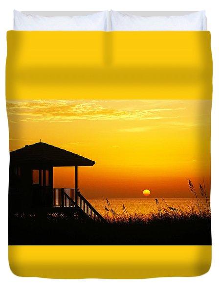 Sunrise Lifeguard Station Duvet Cover