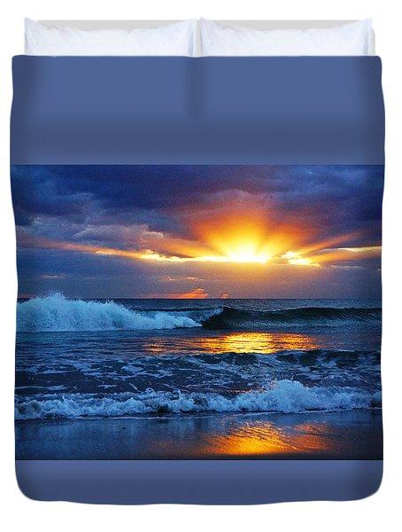 Sunrise Light Wave  Duvet Cover