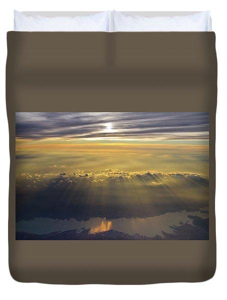 Sunrise From 30,000 Feet Duvet Cover