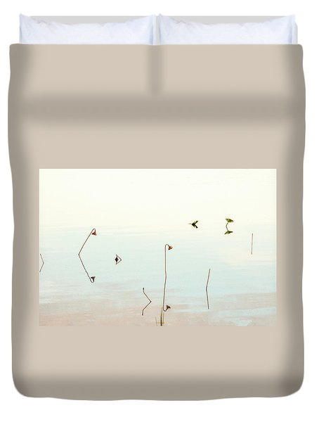 Duvet Cover featuring the photograph Sunrise Minalism by Carolyn Dalessandro
