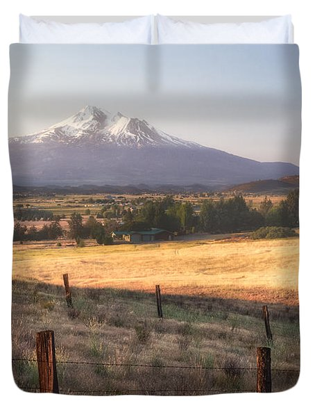 Sunrise Mount Shasta Duvet Cover