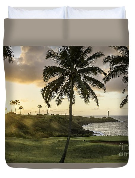 Sunrise Ninini Point, Kauai Duvet Cover