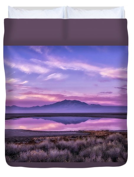 Sunrise On Antelope Island Duvet Cover