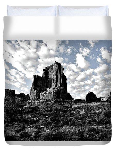 Sunrise On Arches National Park Utah 16 Sc Duvet Cover