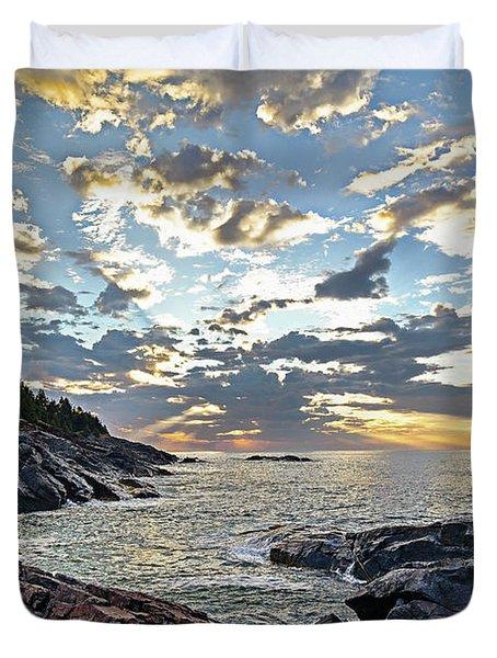 Sunrise On Christmas Cove Duvet Cover