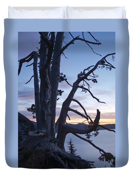 Duvet Cover featuring the photograph Sunrise On Crater Lake by Hugh Smith