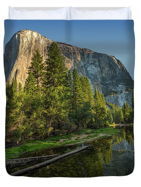 Sunrise On El Capitan Duvet Cover by Peter Tellone