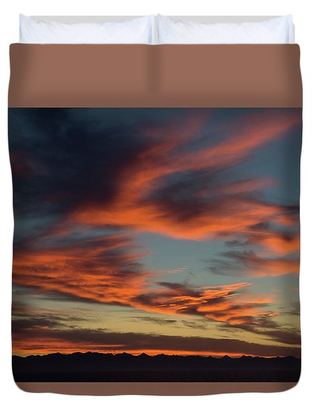Sunrise On Fire Duvet Cover