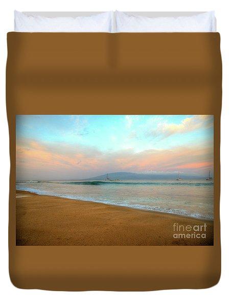 Sunrise On Ka'anapali Duvet Cover by Kelly Wade