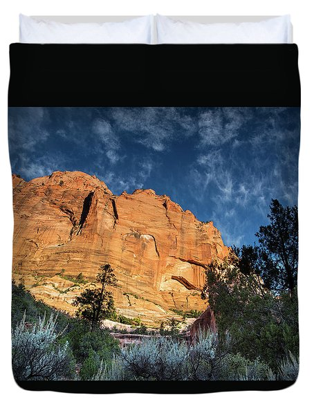 Sunrise On Kolob Arch Trail Duvet Cover