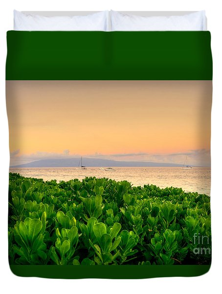 Duvet Cover featuring the photograph Sunrise On Maui by Kelly Wade
