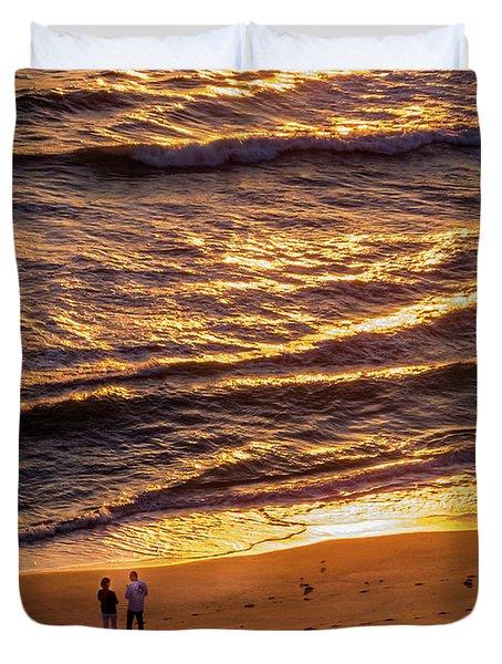 Sunrise On Melbourne Beach Duvet Cover