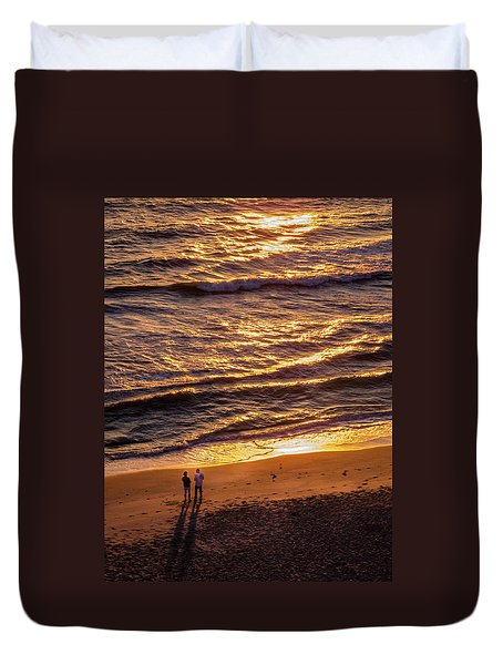 Sunrise On Melbourne Beach Duvet Cover
