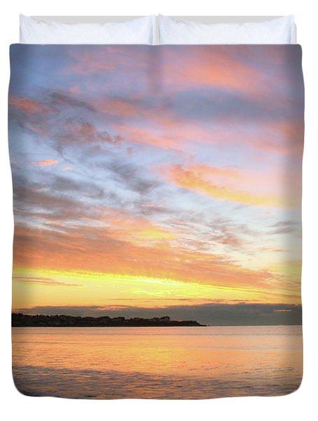 Sunrise On Middletown Rhode Island Duvet Cover by Roupen  Baker