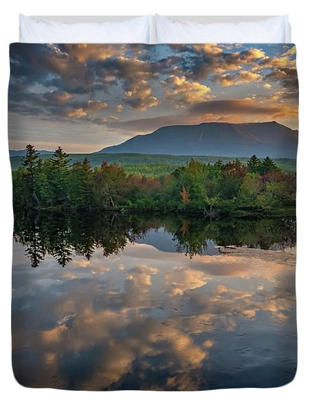 Sunrise On Mount Katahdin Duvet Cover