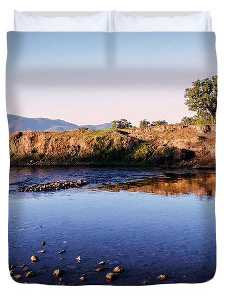 Sunrise On Nariel Creek Duvet Cover