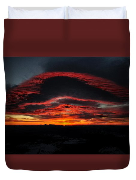 Sunrise On Rainier Duvet Cover