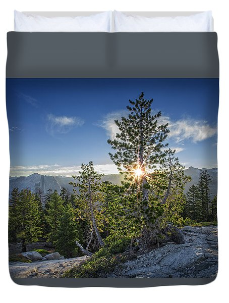 Sunrise On Sentinel Dome Duvet Cover by Rick Berk