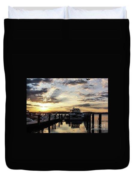 Sunrise On The Alexandria Waterfront Duvet Cover