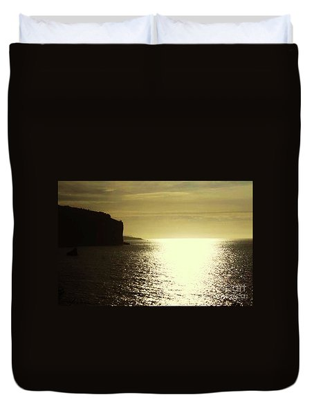 Sunrise On The Almalfi Coast Duvet Cover by Polly Peacock