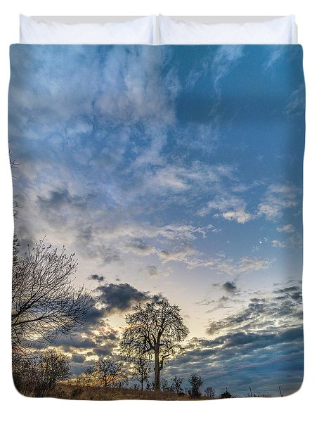 Sunrise On The Back Hill Duvet Cover