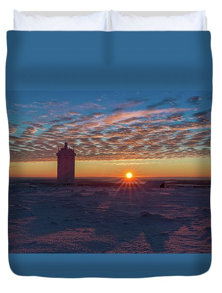 Sunrise On The Brocken, Harz Duvet Cover