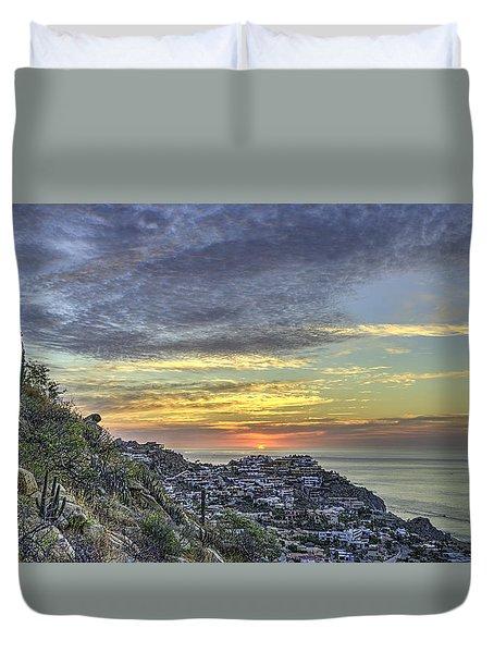 Sunrise On The Coast Duvet Cover