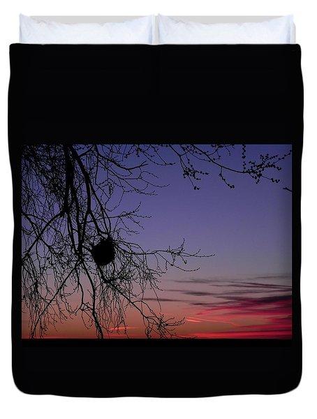 Sunrise On The Colorado Plains Duvet Cover by Adrienne Petterson