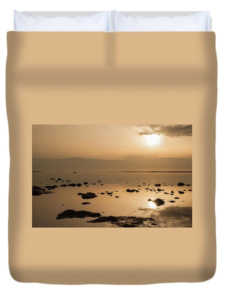 Sunrise On The Dead Sea Duvet Cover