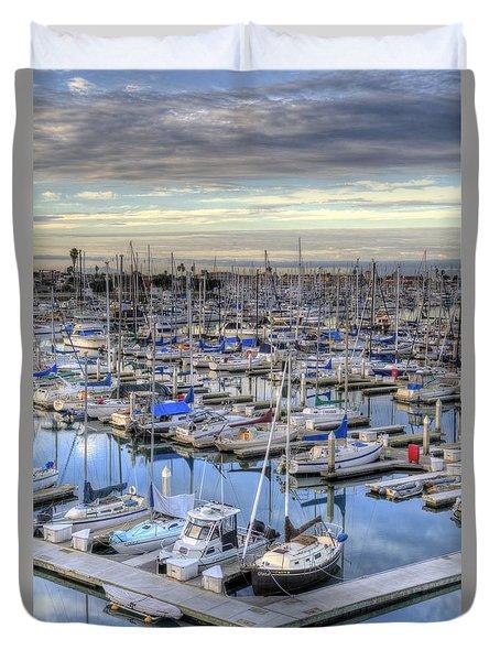 Sunrise On The Harbor Duvet Cover