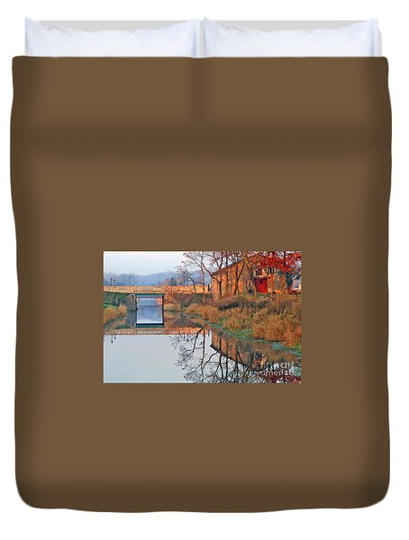 Sunrise On The I And  M Canal Duvet Cover