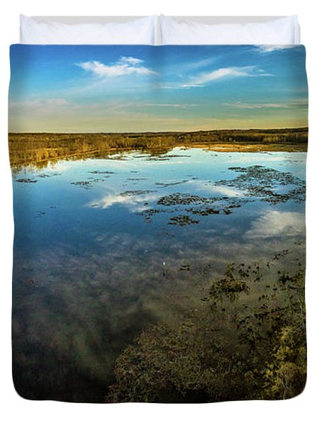 Sunrise On The Lake Duvet Cover