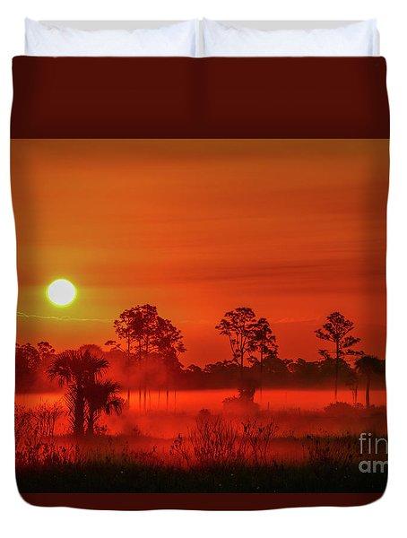 Sunrise On The Marsh Duvet Cover