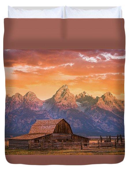 Sunrise On The Ranch Duvet Cover