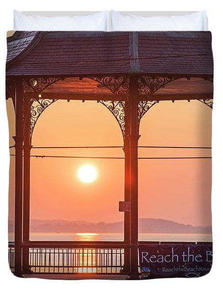 Sunrise On The Revere Beach Bandstand Revere Ma Duvet Cover