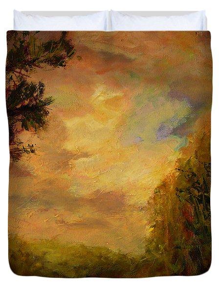 Sunrise On The River Duvet Cover