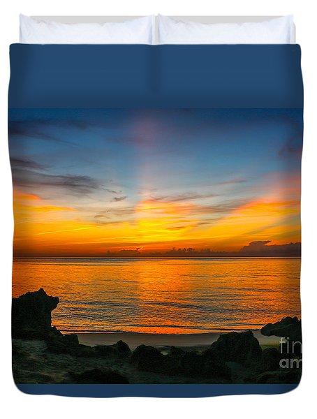 Sunrise On The Rocks Duvet Cover