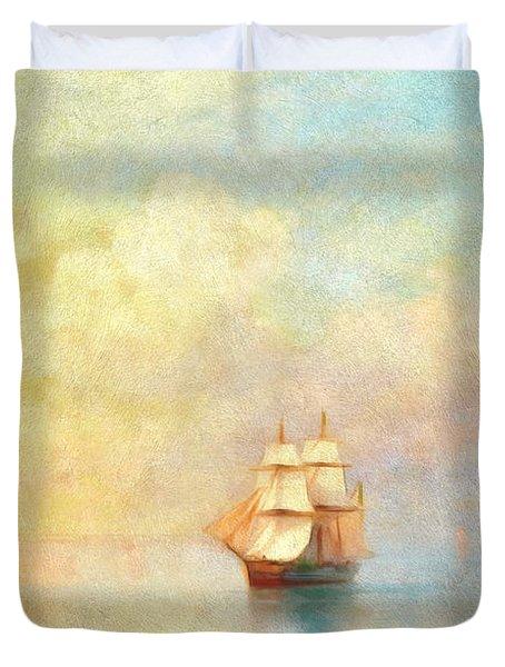 Sunrise On The Sea Duvet Cover
