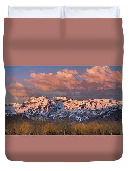 Sunrise On Timpanogos Duvet Cover