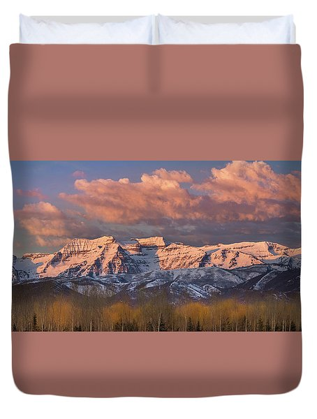 Sunrise On Timpanogos Duvet Cover
