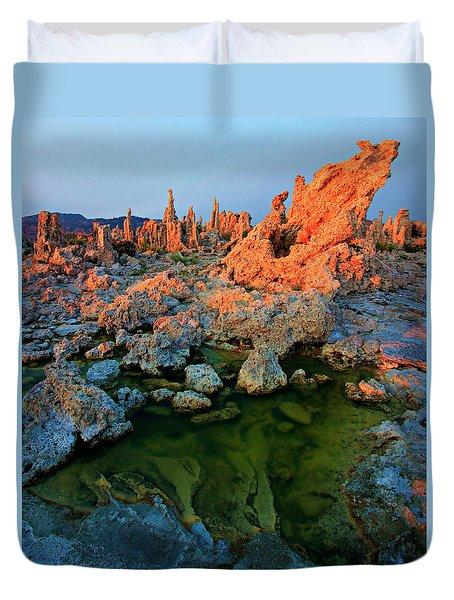 Sunrise On Tufa 2 Duvet Cover