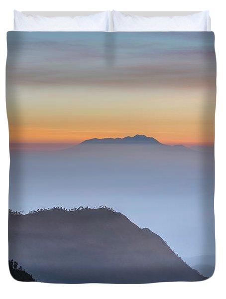 Sunrise Over Bromo National Park - Java Duvet Cover