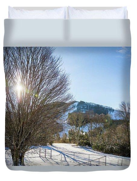 Sunrise Over Cataloochee Ski Duvet Cover