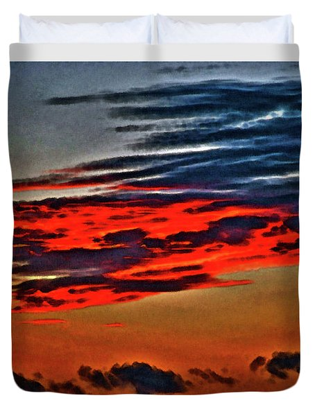 Sunrise Over Daytona Beach Duvet Cover