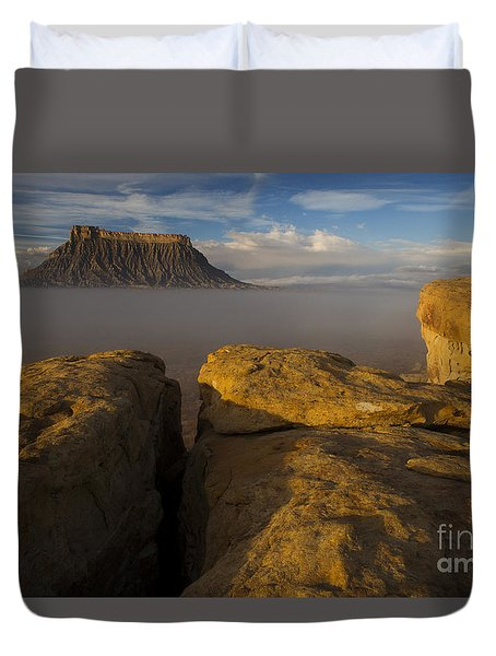 Sunrise Over Factory Butte Duvet Cover