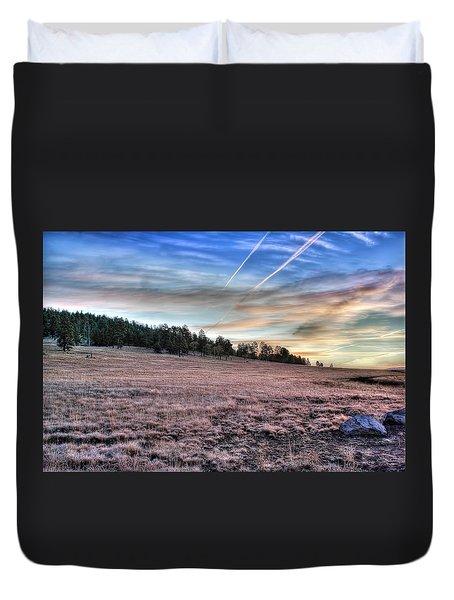 Sunrise Over Ft. Apache Duvet Cover