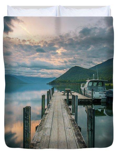Sunrise Over Lake Rotoroa Duvet Cover
